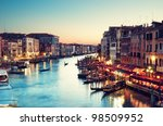 grand canal after sunset ... | Shutterstock . vector #98509952
