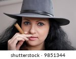 an image of a nice woman in... | Shutterstock . vector #9851344