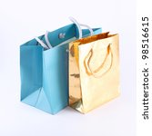 paper shopping bags isolated on ...   Shutterstock . vector #98516615