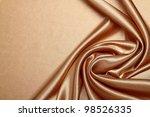 Stock photo luxurious gold satin 98526335