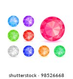 round colorful diamond stone... | Shutterstock .eps vector #98526668