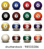 pool balls | Shutterstock . vector #98533286
