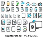 icons of modern gadgets | Shutterstock .eps vector #98542301