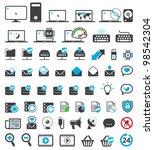 computer icons set | Shutterstock .eps vector #98542304