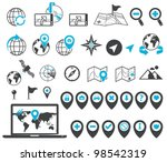 location and destination icons   Shutterstock .eps vector #98542319