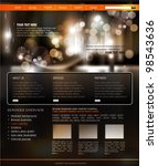 vector website template for... | Shutterstock .eps vector #98543636