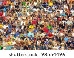 Blurred Crowd Of Spectators On...