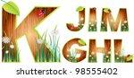 vector wood abc eps 10   Shutterstock .eps vector #98555402