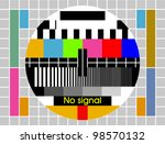 test tv screen background | Shutterstock .eps vector #98570132