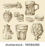 kitchen set | Shutterstock .eps vector #98586080