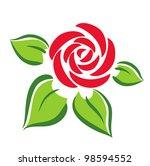 rose flower symbol  tattoo   Shutterstock .eps vector #98594552