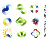 different abstract logos and... | Shutterstock .eps vector #98594576