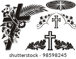 grave decoration   decorating a ... | Shutterstock .eps vector #98598245