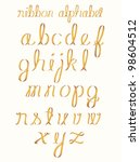 ribbon alphabet | Shutterstock .eps vector #98604512