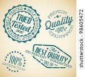 vector retro teal vintage... | Shutterstock .eps vector #98605472