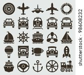vintage retro icons transport... | Shutterstock .eps vector #98608232
