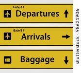 airport signs   Shutterstock .eps vector #98621906