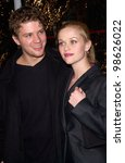 Small photo of Actor RYAN PHILLIPPE & actress wife REESE WITHERSPOON at the world premiere, in Los Angeles, of his new movie Antitrust. 10JAN2001. Paul Smith/Featureflash