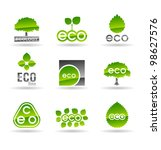 ecology icon set  number 3 .... | Shutterstock .eps vector #98627576