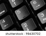 black computer keyboard close up   Shutterstock . vector #98630702