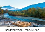 autumn morning mountain river ... | Shutterstock . vector #98633765