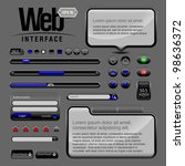 web ui elements design gray blue