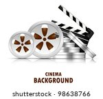 Bright Cinema Background With...