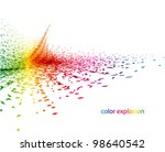 color explosion abstract design | Shutterstock .eps vector #98640542