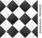 Black And White Tile Seamless...