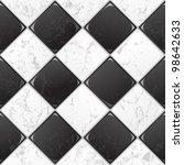 Black And White Tile Seamless...