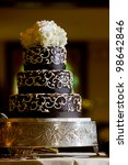 A Chocolate Wedding Cake With...