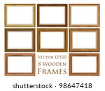 Vector Wooden Frame Set.