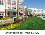 modern apartment complex... | Shutterstock . vector #98652722