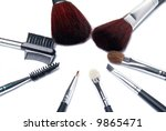 cosmetic brushes | Shutterstock . vector #9865471