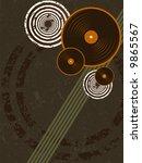 grunge music vector background... | Shutterstock .eps vector #9865567