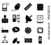 computer and technology icon set | Shutterstock .eps vector #98658026