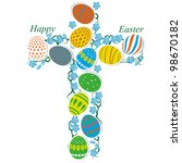 the catholic cross of easter... | Shutterstock .eps vector #98670182