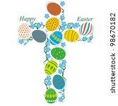the catholic cross of easter...   Shutterstock .eps vector #98670182