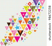 fun triangles background | Shutterstock . vector #98672258