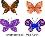 beautiful butterflies | Shutterstock .eps vector #9867244