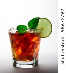 cola glass with lime slice | Shutterstock . vector #98672792