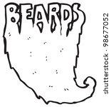 beards text cartoon | Shutterstock . vector #98677052