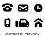 contact information icon set ...
