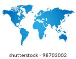 world map illustration | Shutterstock .eps vector #98703002