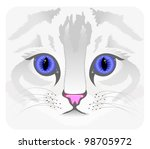 close up of cat face | Shutterstock .eps vector #98705972