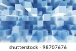 abstract image of cubes... | Shutterstock . vector #98707676