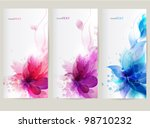 Stock vector  vector background with flower 98710232