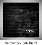 dark old black brick wall ... | Shutterstock .eps vector #98710922