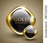 golden shiny modern element.... | Shutterstock .eps vector #98712422