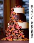 a fancy fall themed wedding... | Shutterstock . vector #98718098